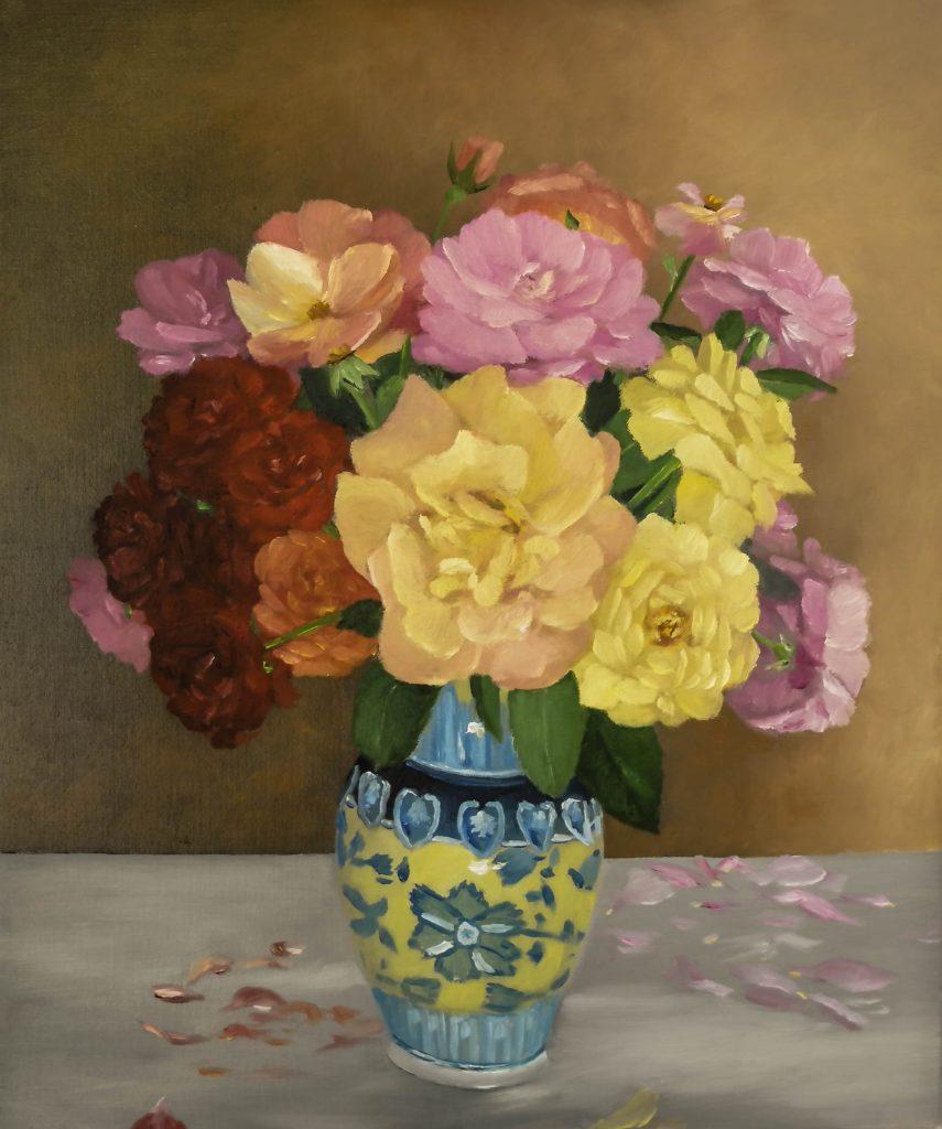 Bouquet-de-roses-du-jardin