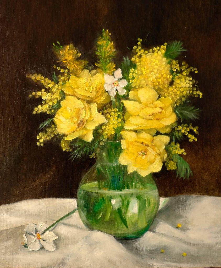 Roses-jaunes-dans-un-vase
