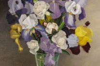 Grand iris et pivoines