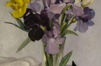 Iris et rhododendron